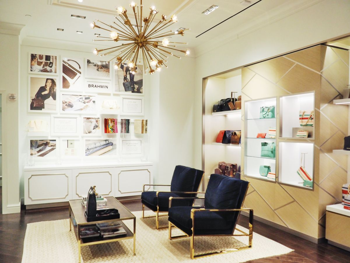 Inside the Brahmin store in SouthPark Mall