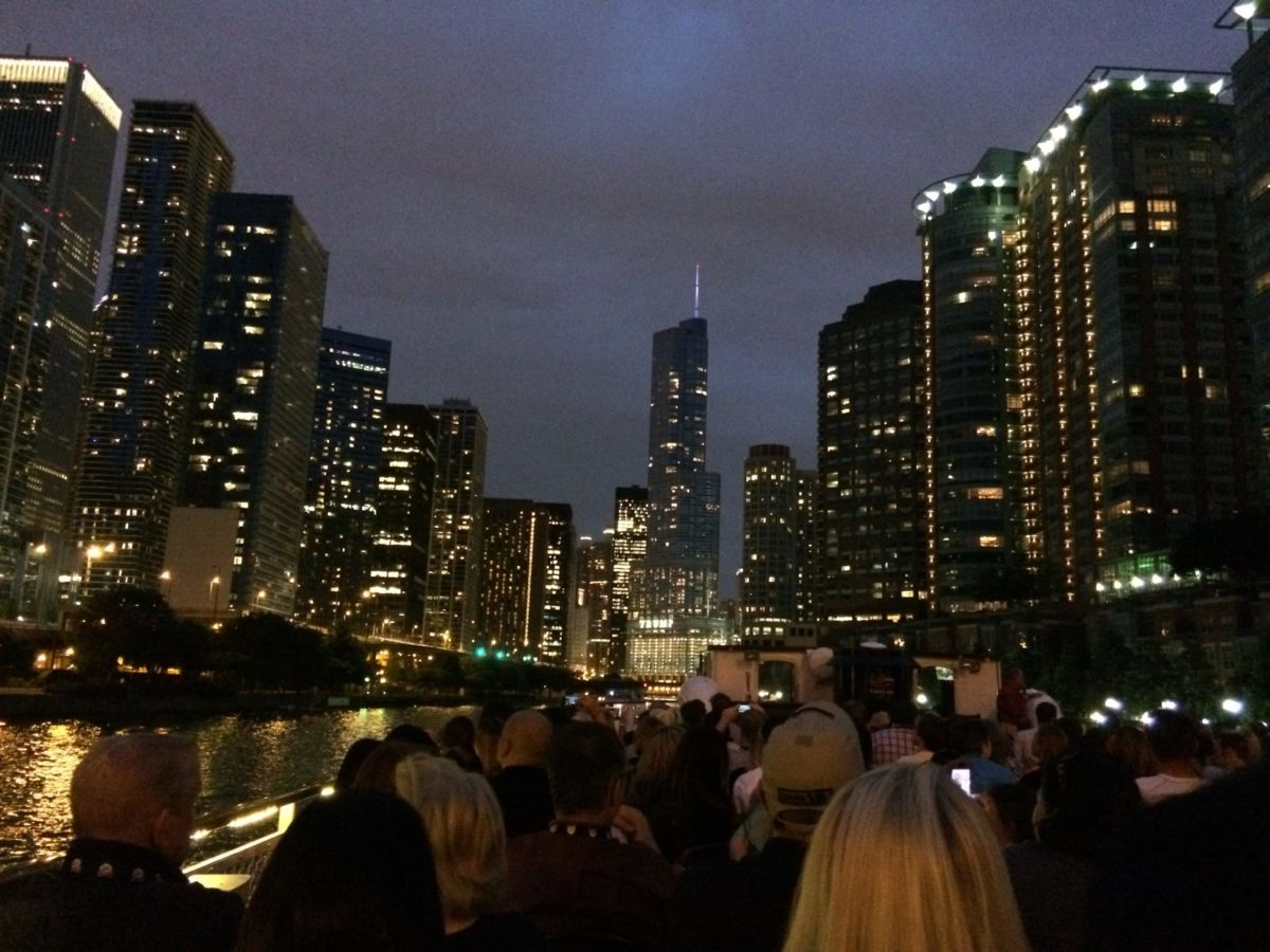 Chicago Architecture Foundation Sunset River Cruise // Shades of Pinck
