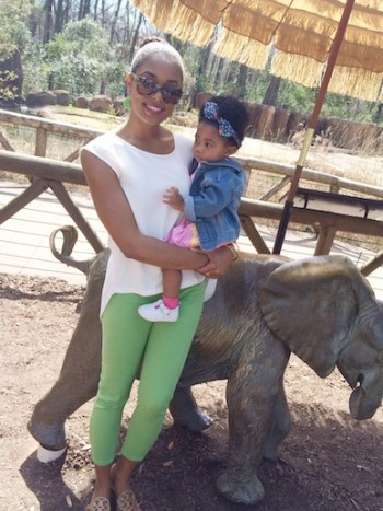 With Baby A at the Columbia Zoo!